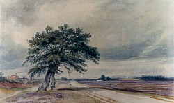 Painting of Prees Heath around 1900