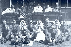 WW1 Military Hospital Patients and Nurses